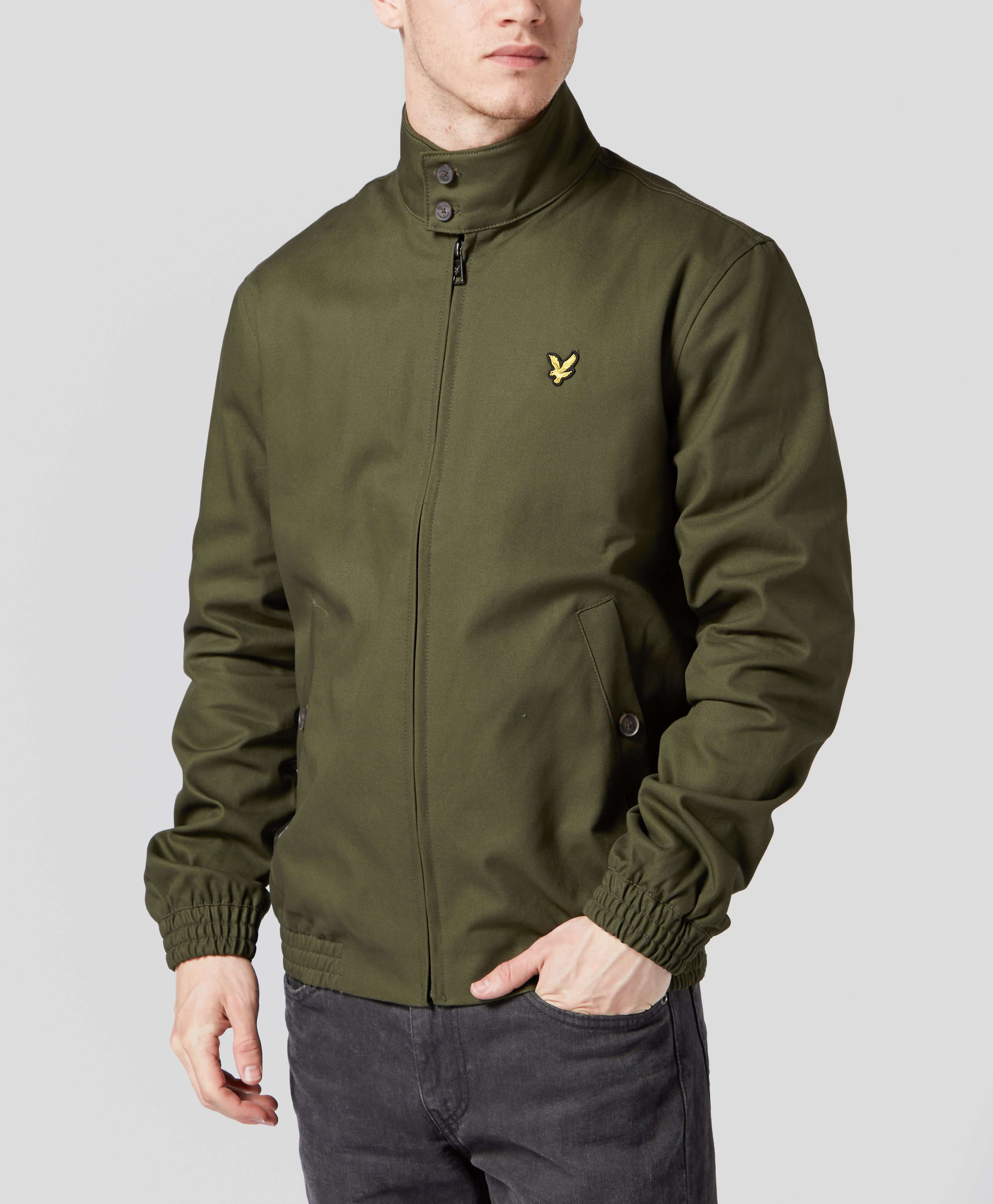 lyle scott lined harrington jacket scotts menswear. Black Bedroom Furniture Sets. Home Design Ideas