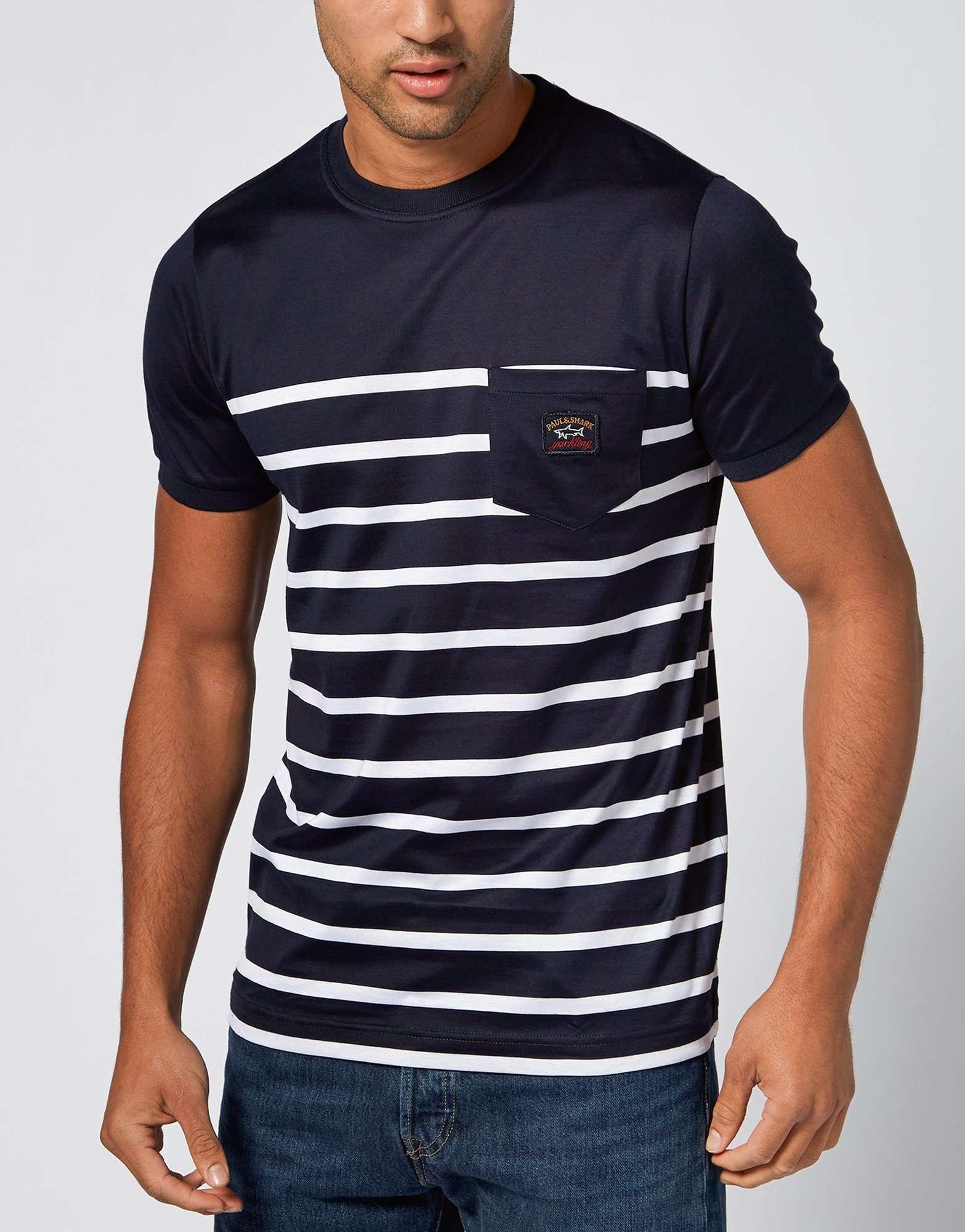 paul and shark admiral stripe t shirt exclusive scotts. Black Bedroom Furniture Sets. Home Design Ideas