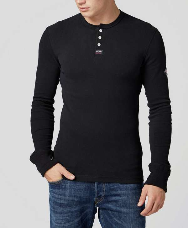 Superdry henley collar t shirt scotts menswear for Mens collared henley shirt