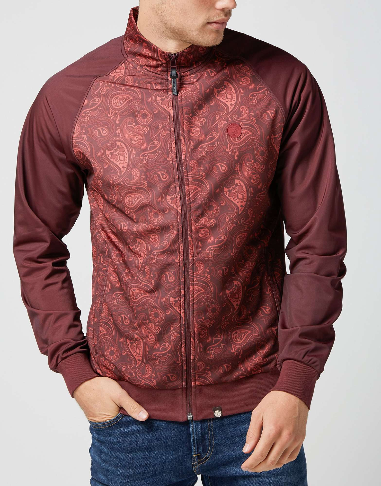 Pretty Green Forthsea Paisley Track Top - T3099