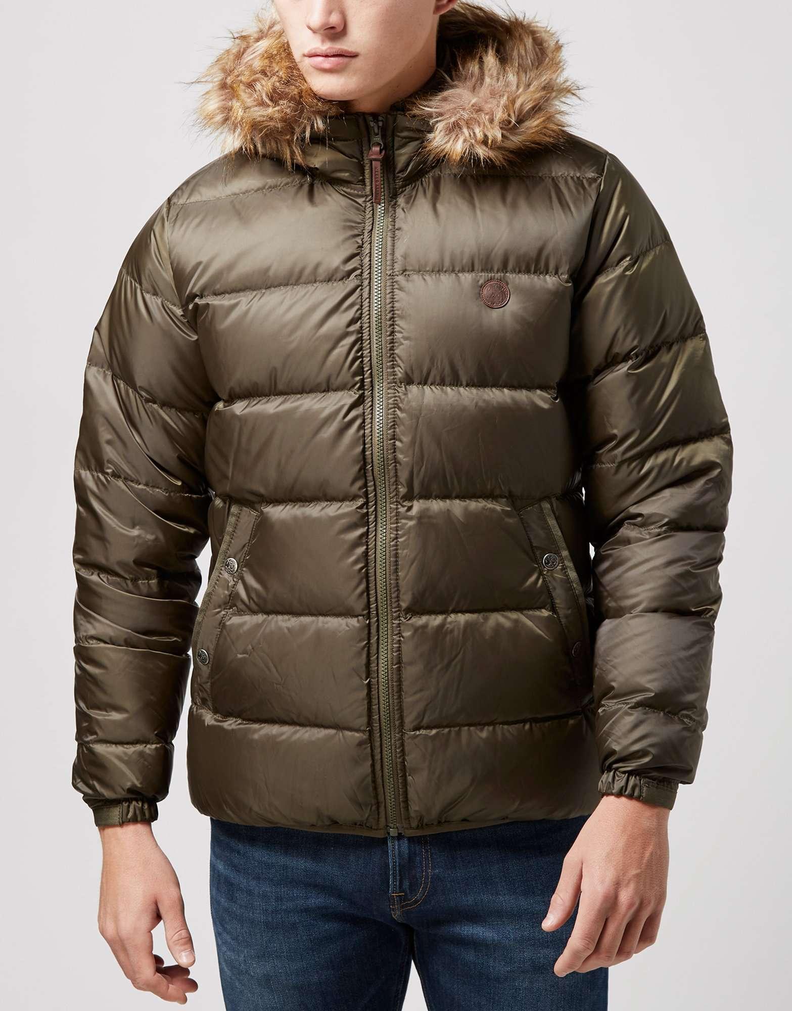 Pretty Green Northway Fur Bubble Jacket | scotts Menswear