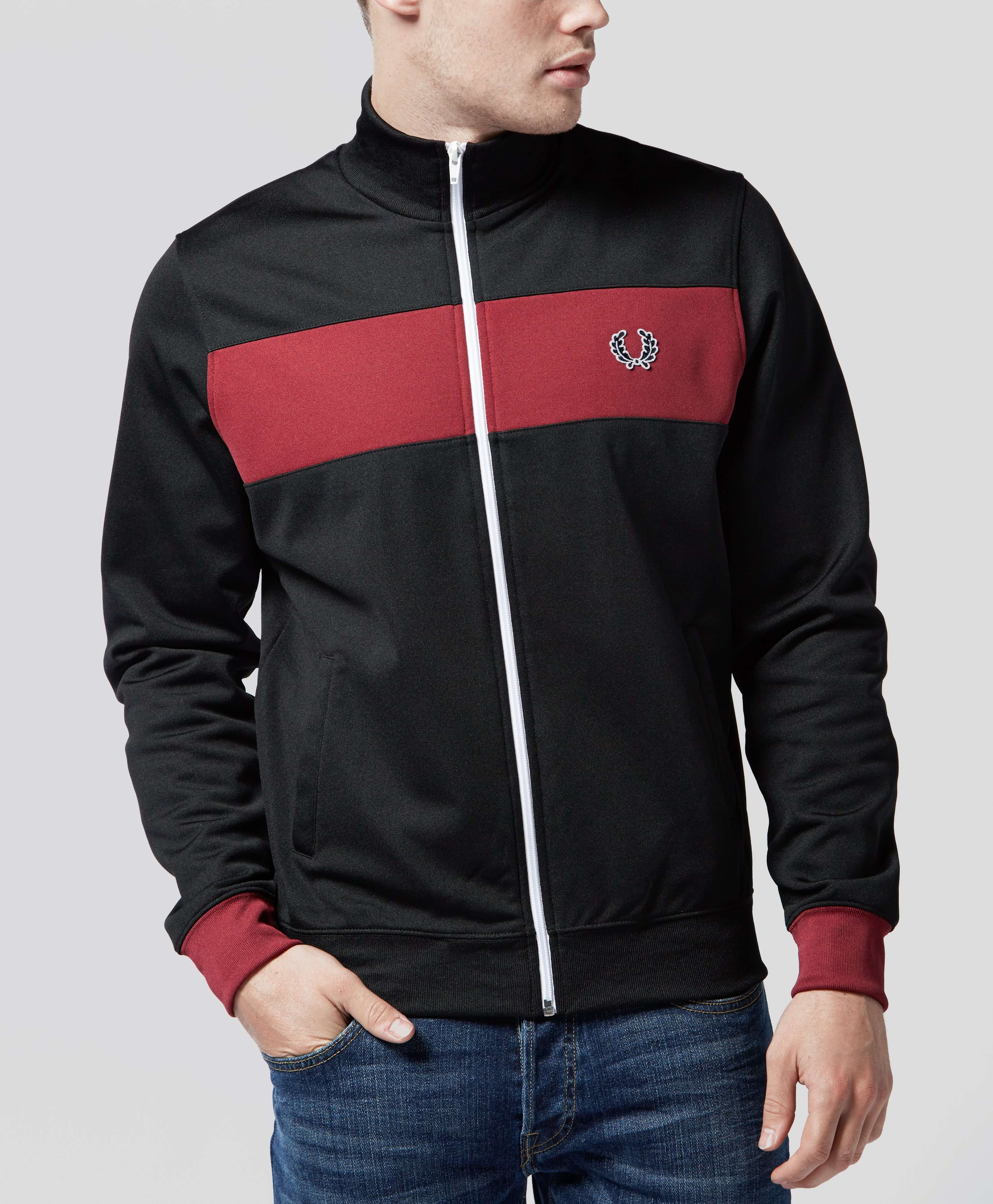 fred perry panel track jacket scotts menswear. Black Bedroom Furniture Sets. Home Design Ideas