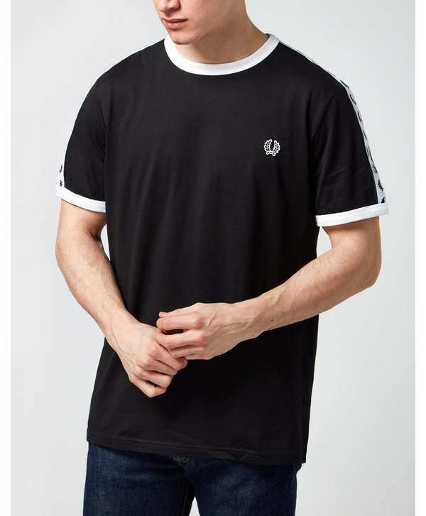 Fred Perry Taped Retro Ringer T Shirt Scotts Menswear