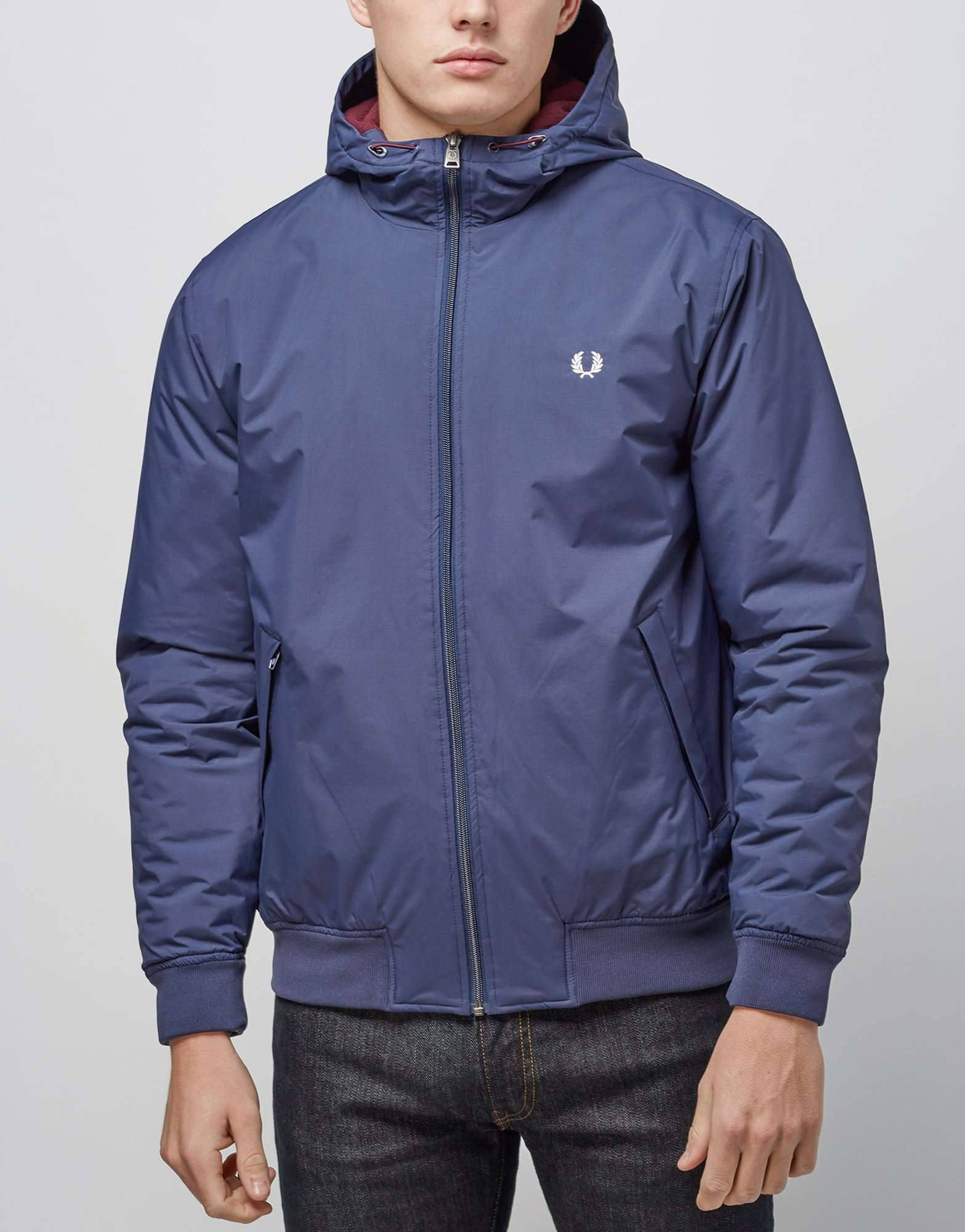 Fred Perry Brentham Hooded Lightweight Jacket Scotts