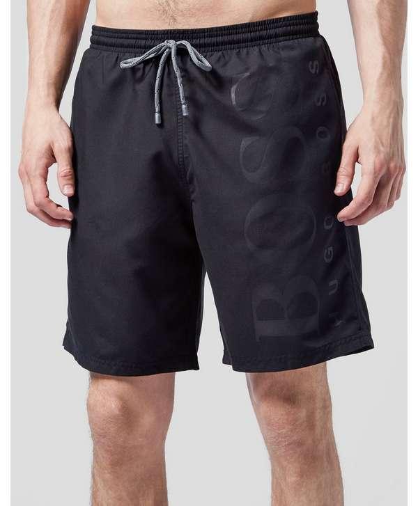 Boss Black Orca Large Logo Swim Shorts - Black