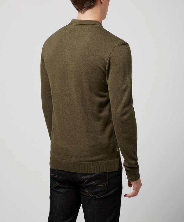 One True Saxon Drury Olive Knitted Polo - Exclusive