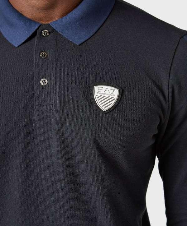 d22e3b9e2 ... uk emporio armani ea7 long sleeve polo shirt exclusive 219f7 dc24b