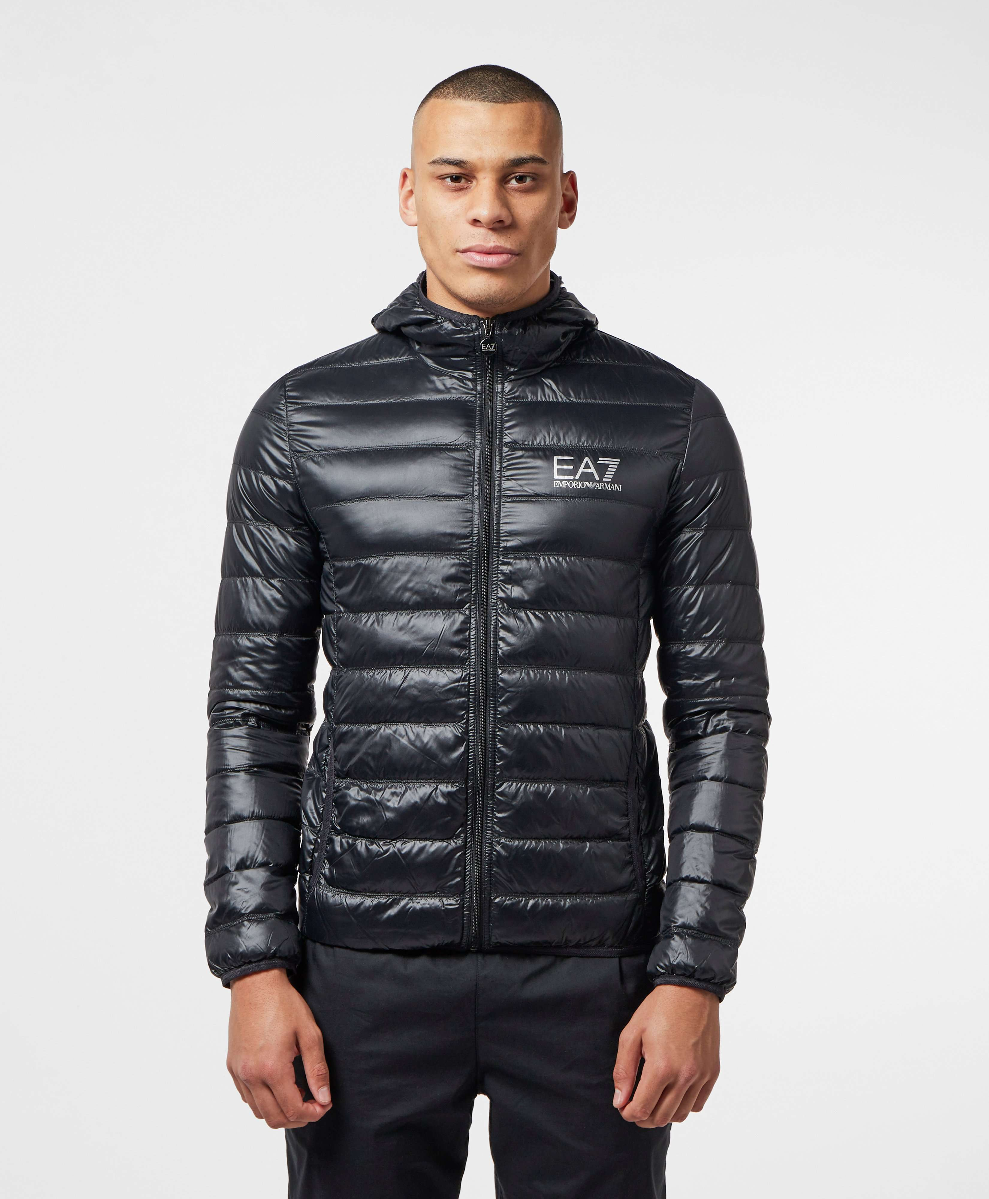 Quilted shiny hooded jacket coat sex fuck - 2 5