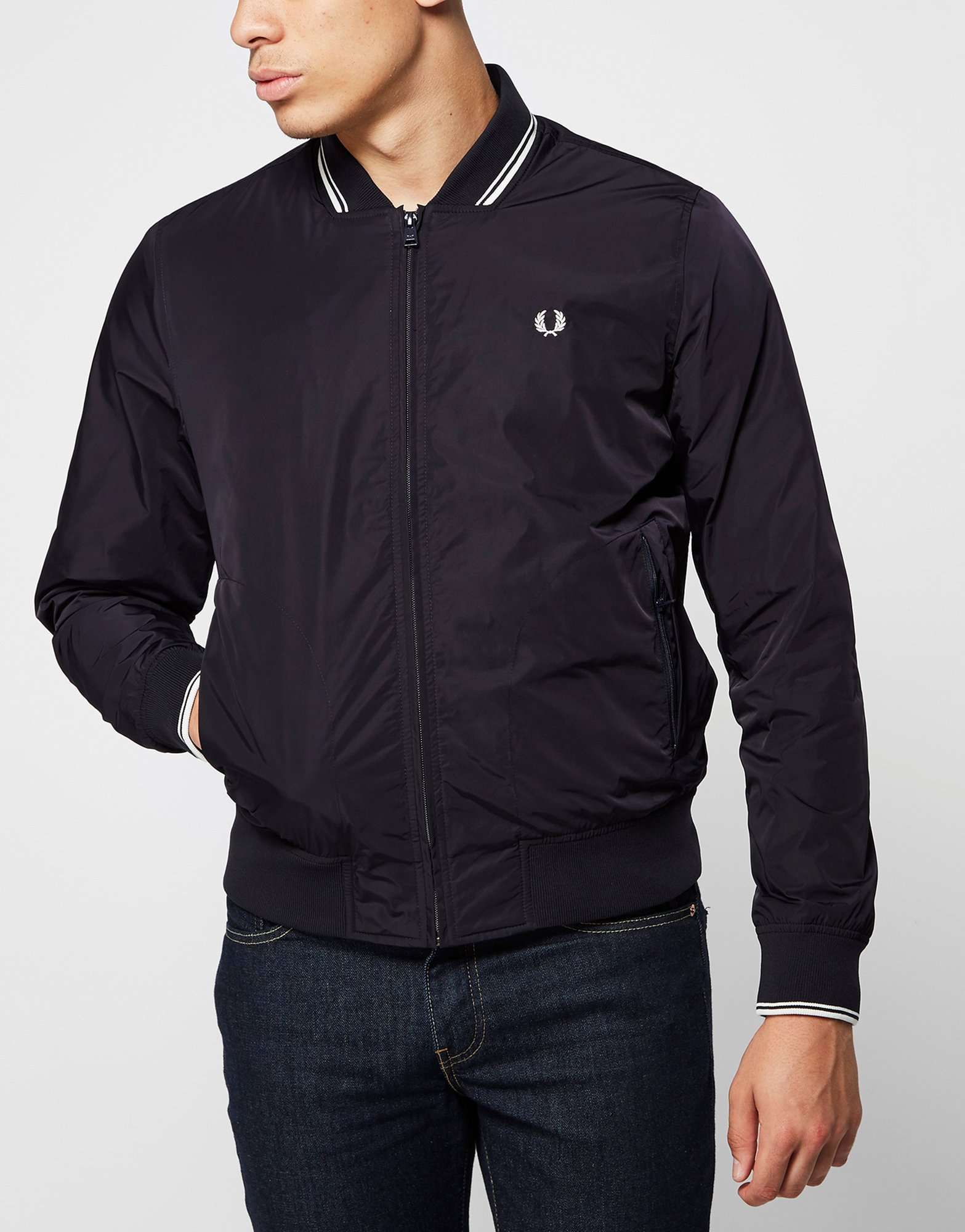 fred perry twin tip bomber jacket scotts menswear. Black Bedroom Furniture Sets. Home Design Ideas