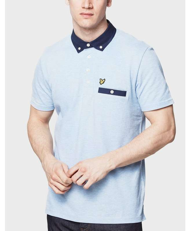 Lyle & Scott Pin Dot Woven Collar