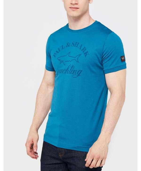 paul and shark short sleeve tonal logo t shirt scotts. Black Bedroom Furniture Sets. Home Design Ideas