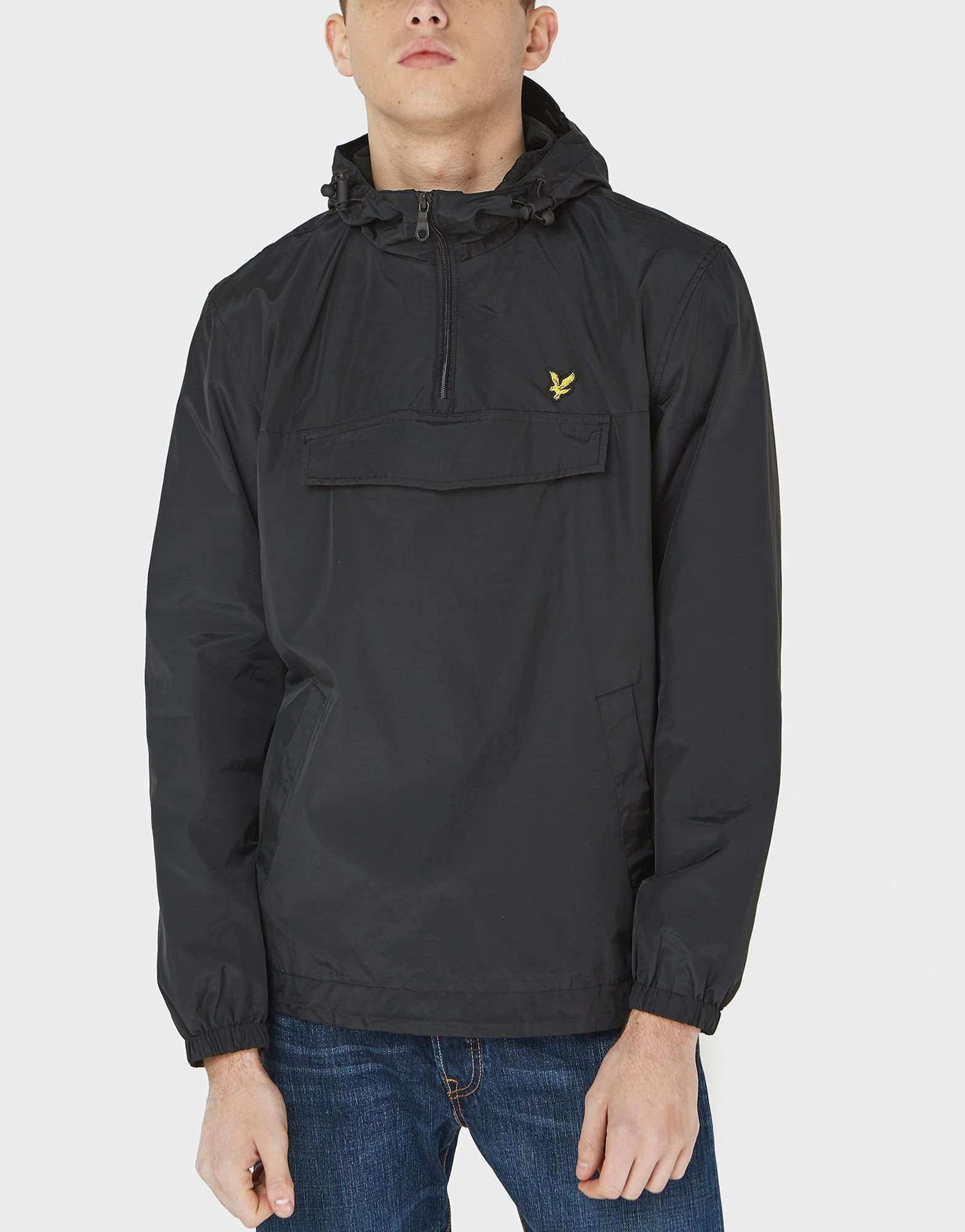 lyle scott overhead lightweight hooded jacket scotts menswear. Black Bedroom Furniture Sets. Home Design Ideas