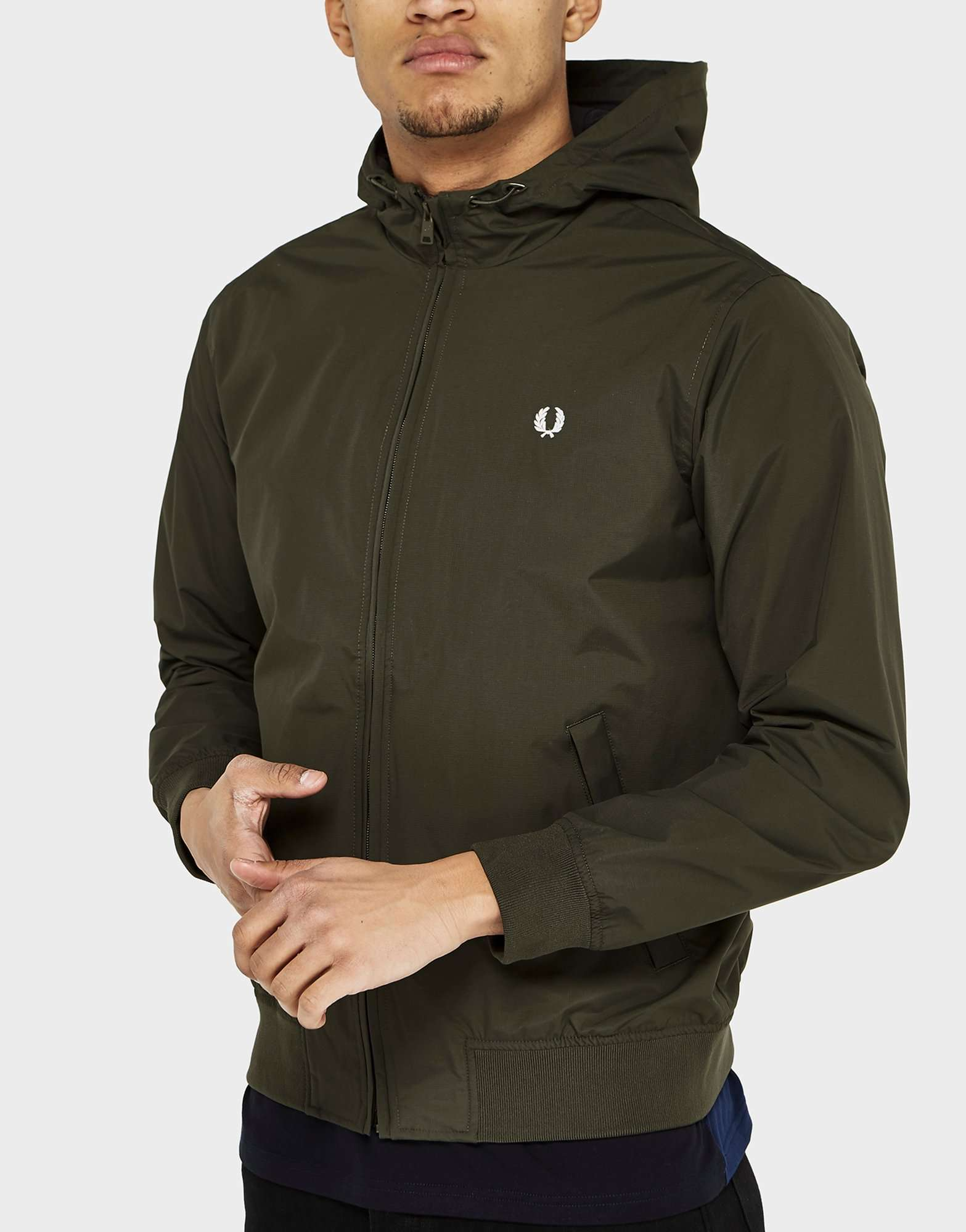 fred perry brentham hooded lightweight jacket exclusive. Black Bedroom Furniture Sets. Home Design Ideas