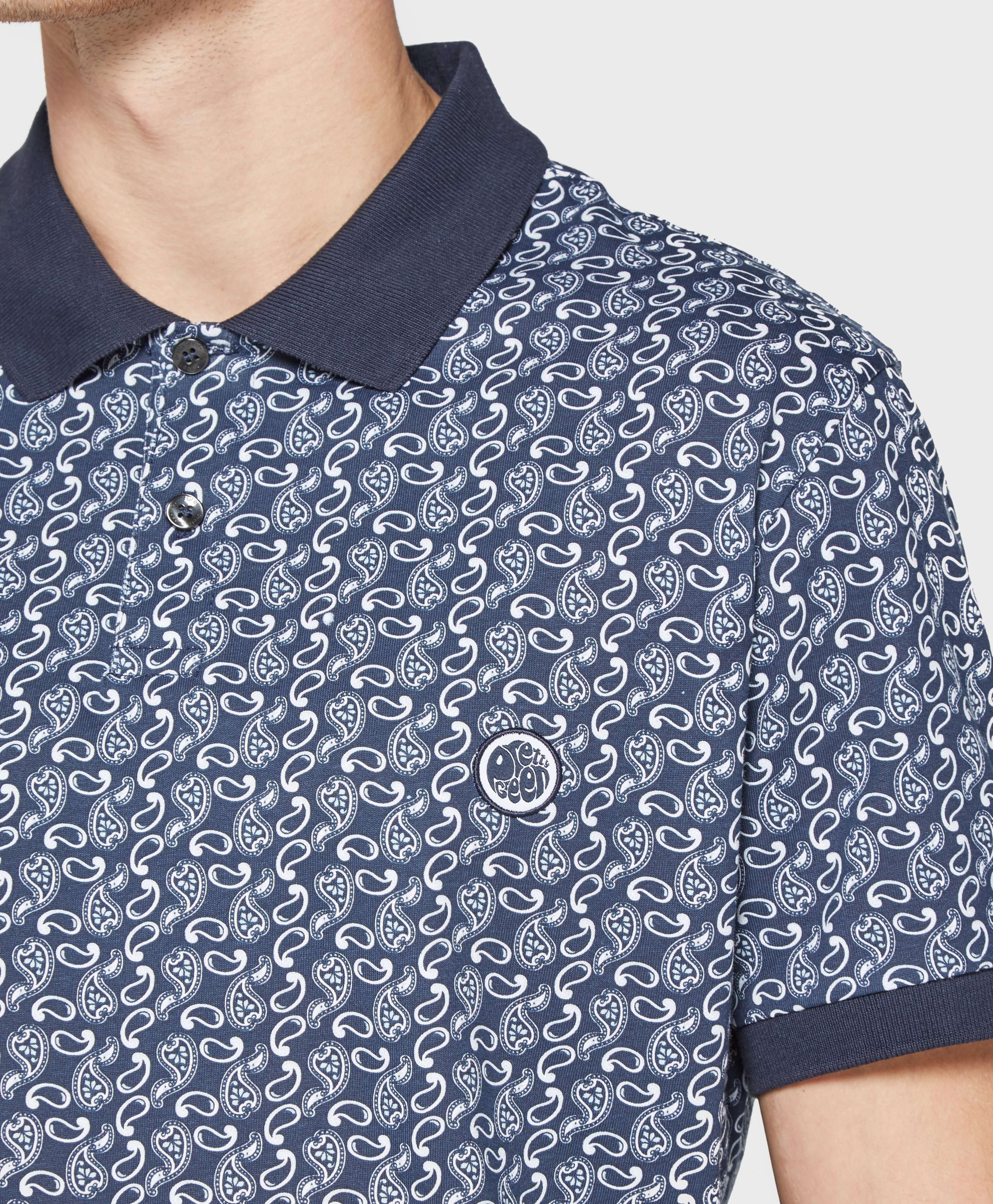 Pretty Green Paisley Short Sleeve Polo Shirt - Exclusive