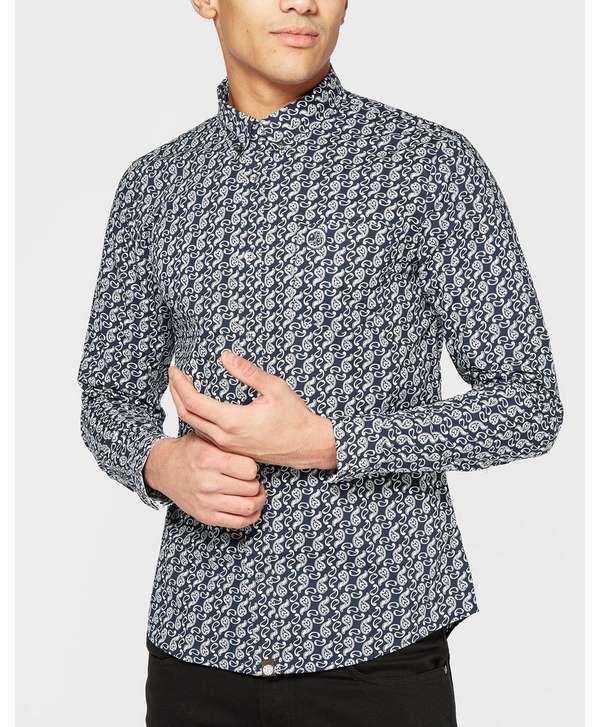 Pretty Green Paisley Long Sleeve Shirt | scotts Menswear
