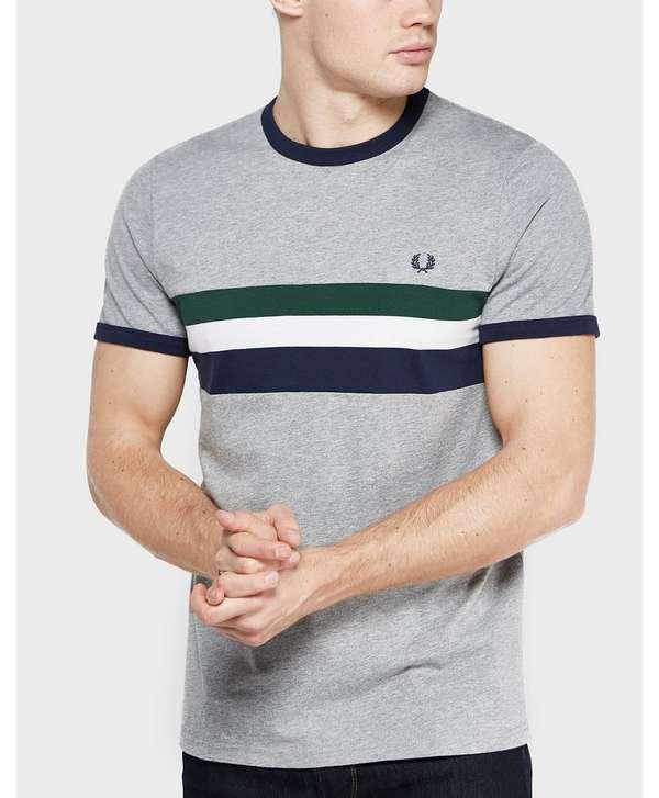 Fred Perry Stripe Panel Short Sleeve Ringer T Shirt