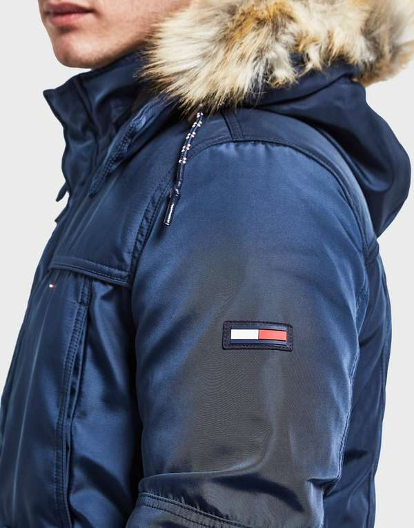 Tommy Hilfiger Fur Hooded Padded Bomber Jacket Online