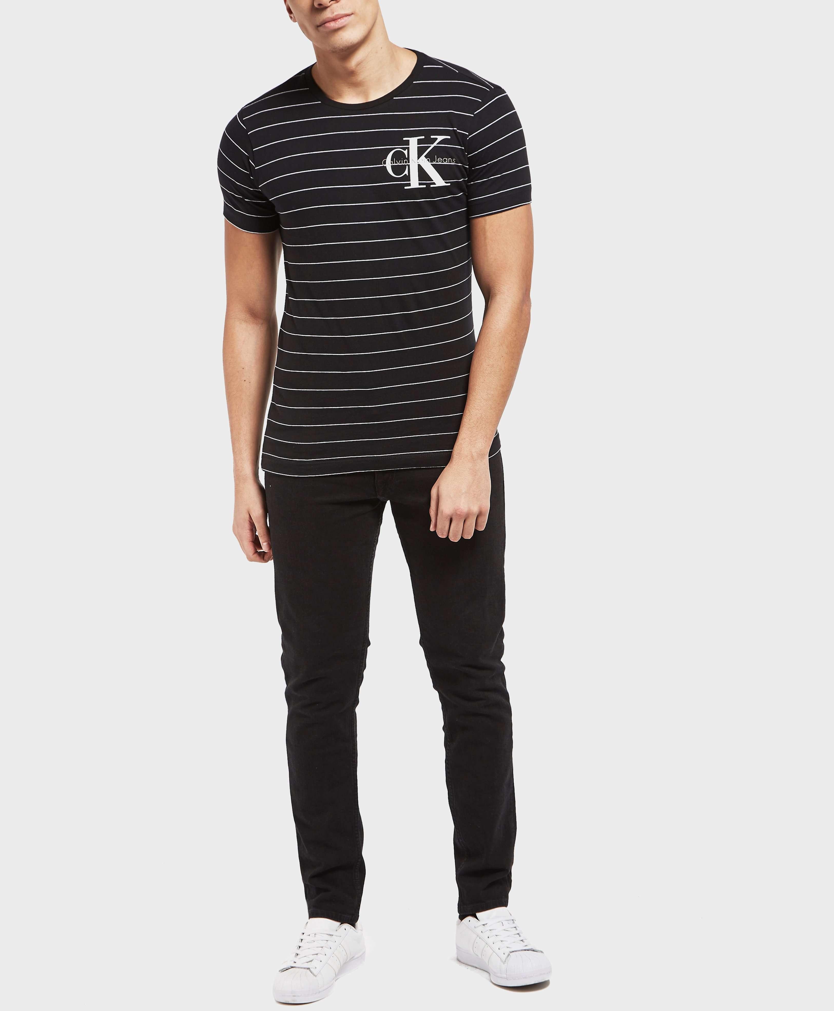 Calvin Klein Stripe Crew Short Sleeve T-Shirt