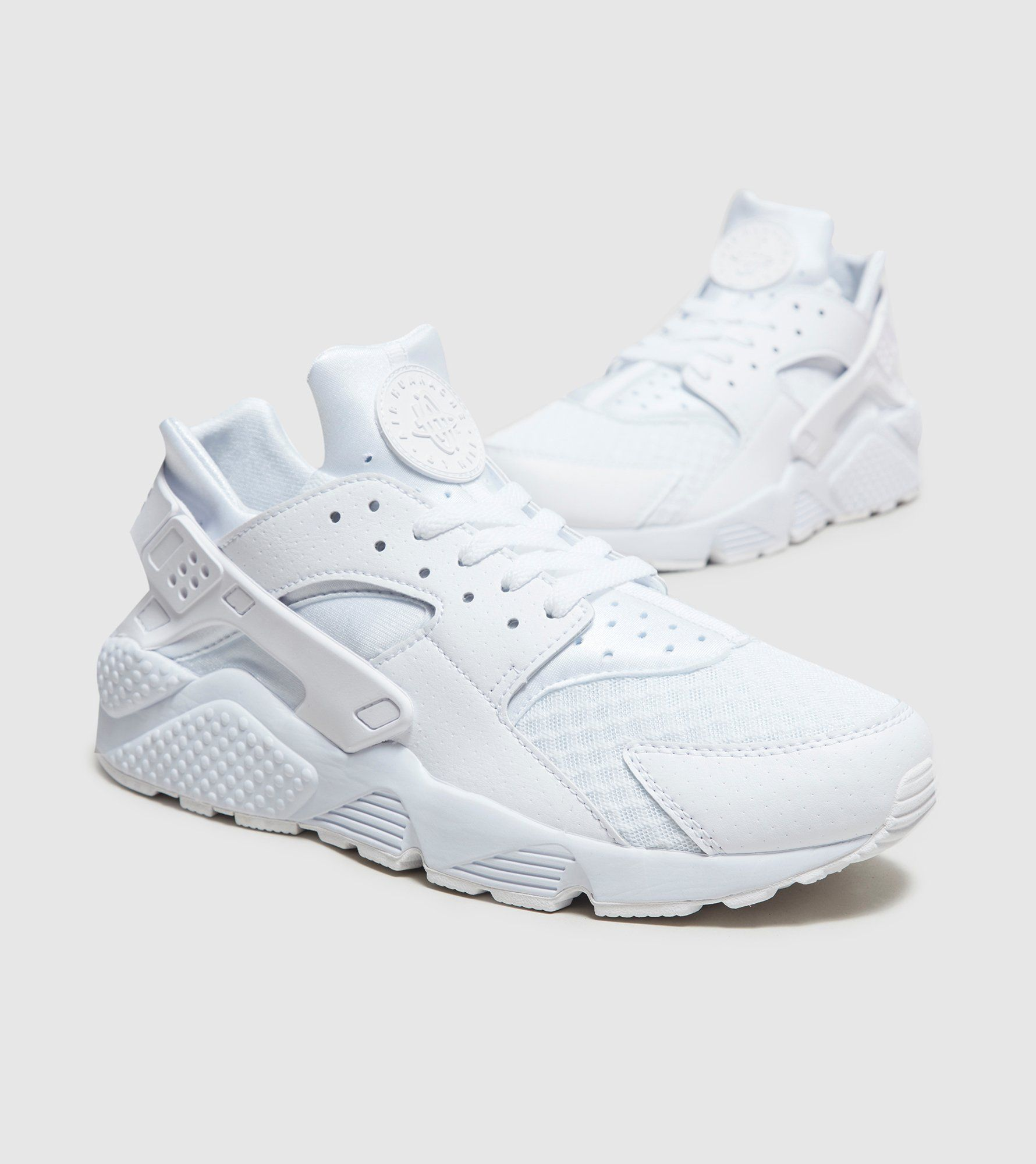 factory authentic 0abaf 5f2df Nike Air Huarache Platinum White  Size