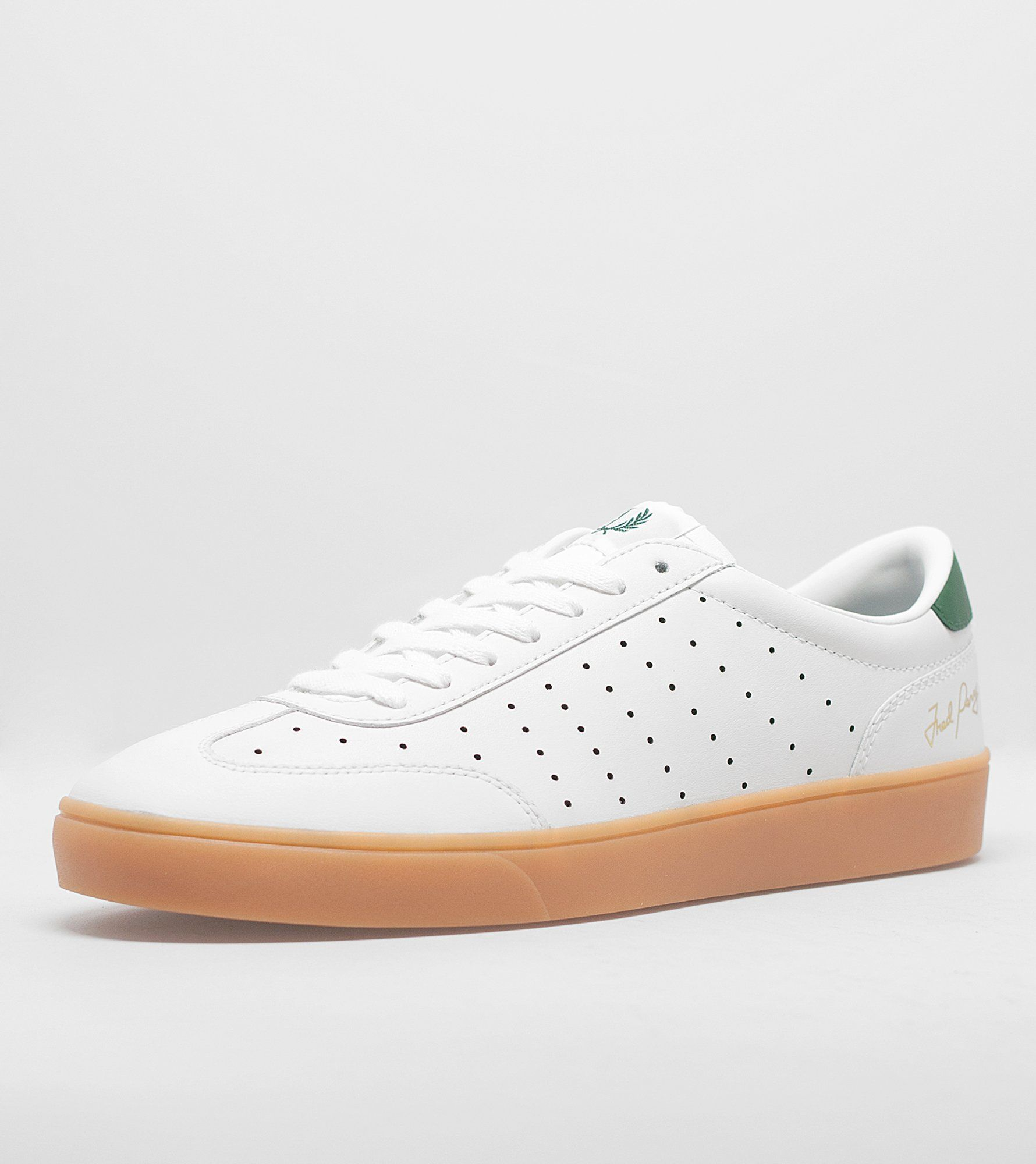 Fred Perry Umpire Leather White Green 40 EHmXGVyjQ