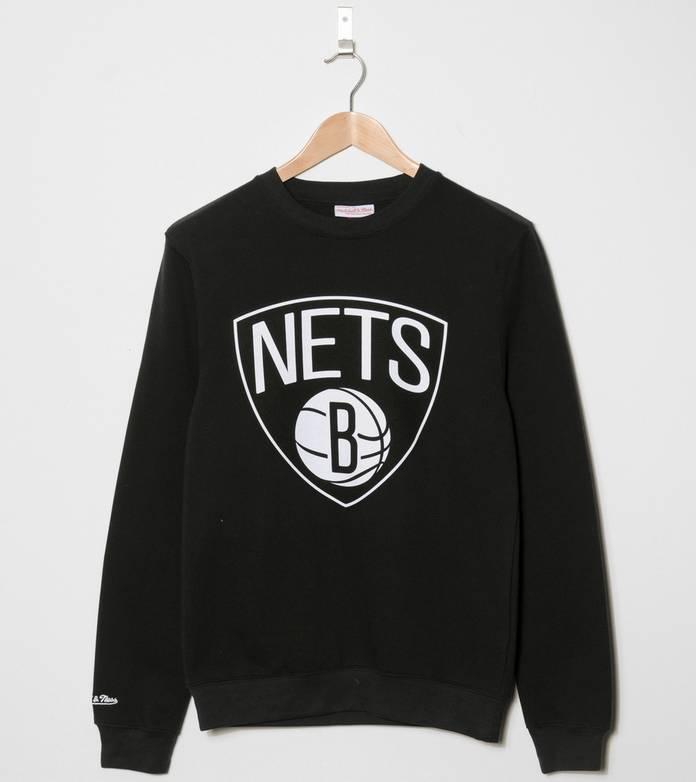 Mitchell & Ness Logo Brooklyn Nets Sweatshirt