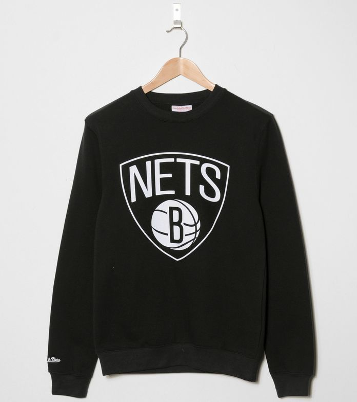 Mitchell & Ness Logo Brooklyn Nets Sweatshirt