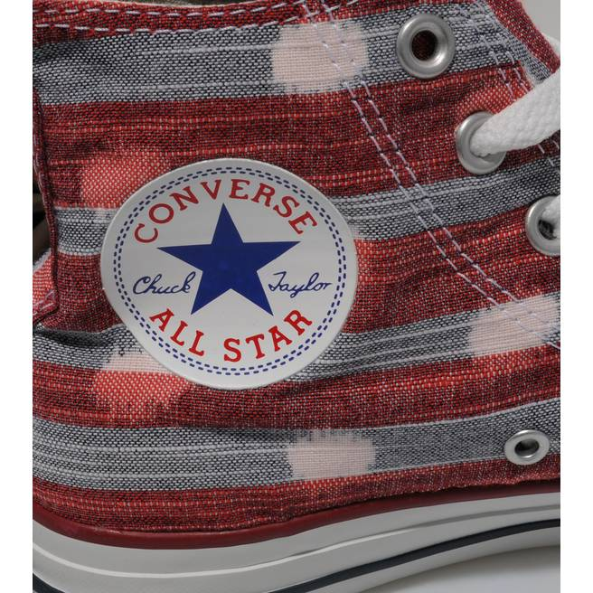 Converse All Star Hi Stripe Polka Dot