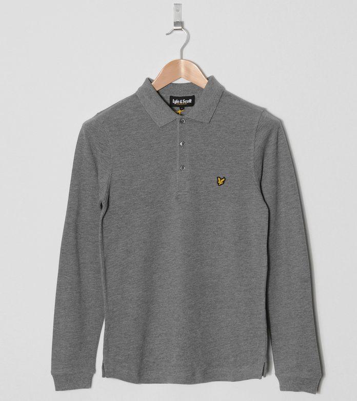 Lyle & Scott Long Sleeved Pique Polo Shirt