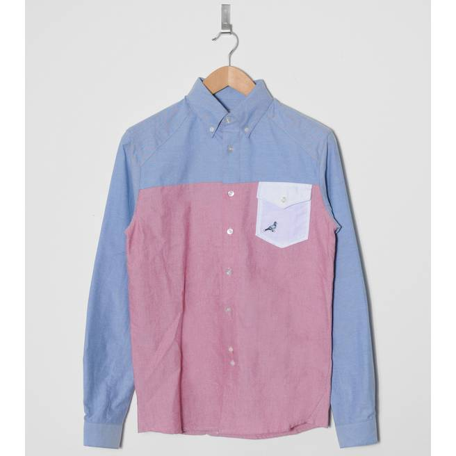 Staple Design Long Sleeve Oxford Patch Shirt