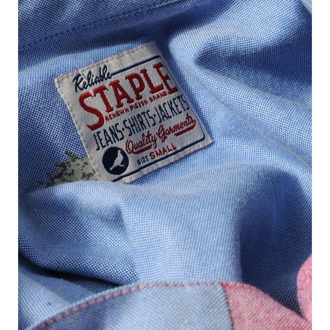 Staple Design Long Sleeve Oxford Patch Shirt