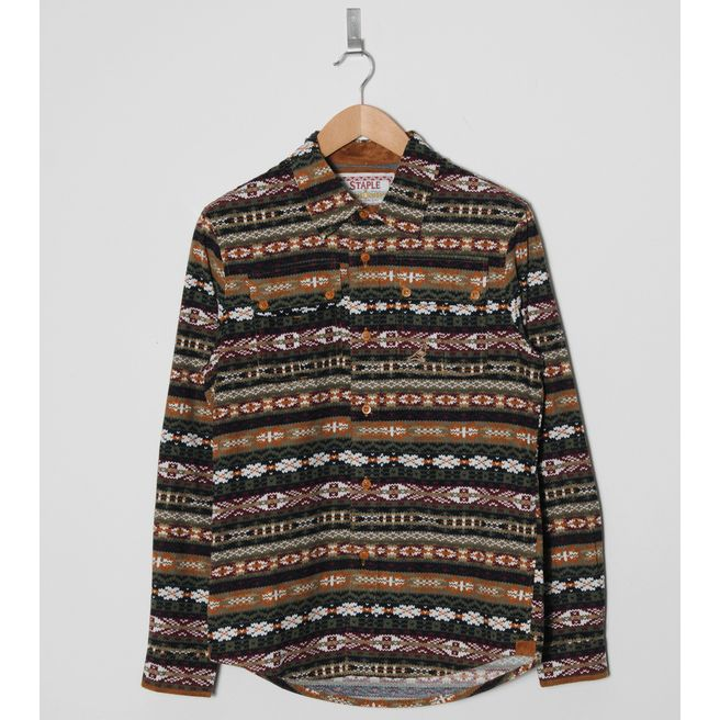 Staple Design Callowhill Fair Isle Long Sleeve Shirt