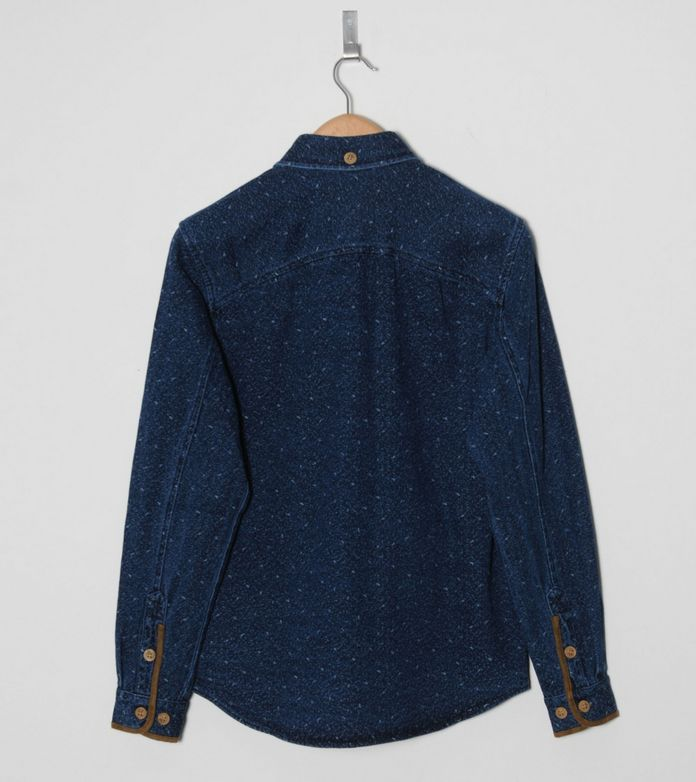 Staple Design Ross Flick Denim Long Sleeve Shirt