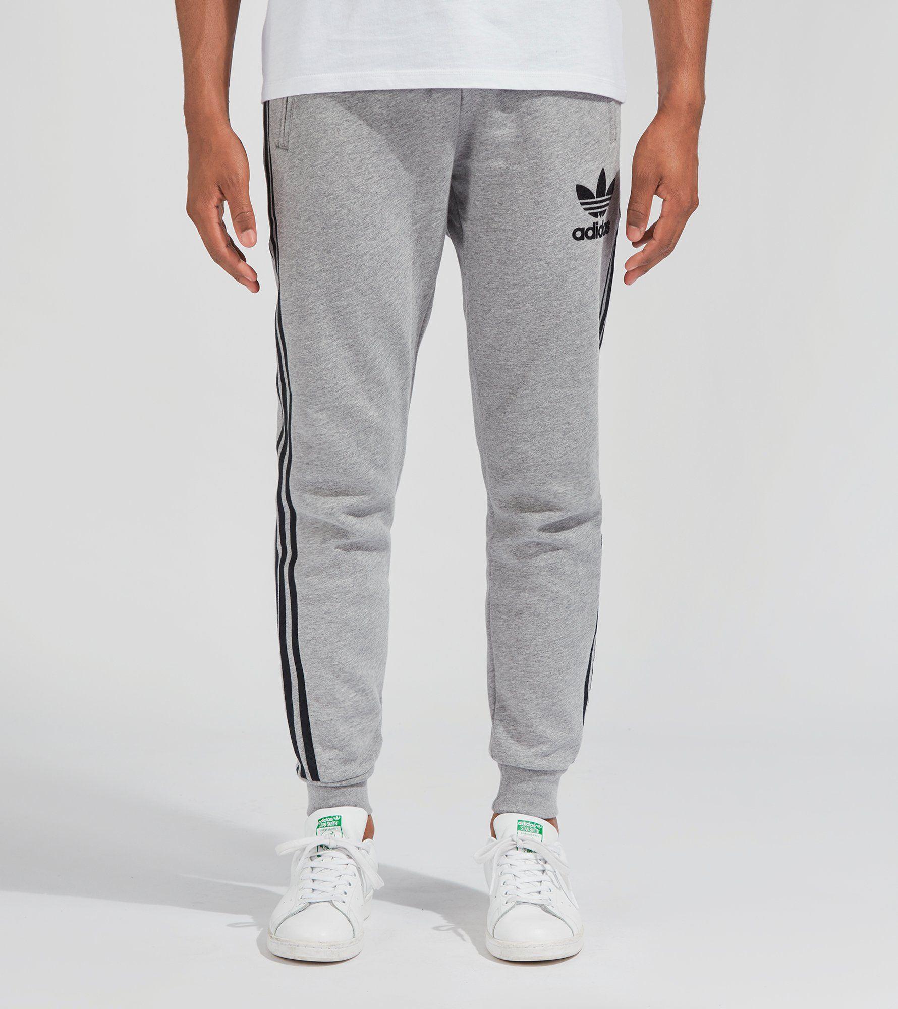 Cuffed logo track trousers - Grey adidas