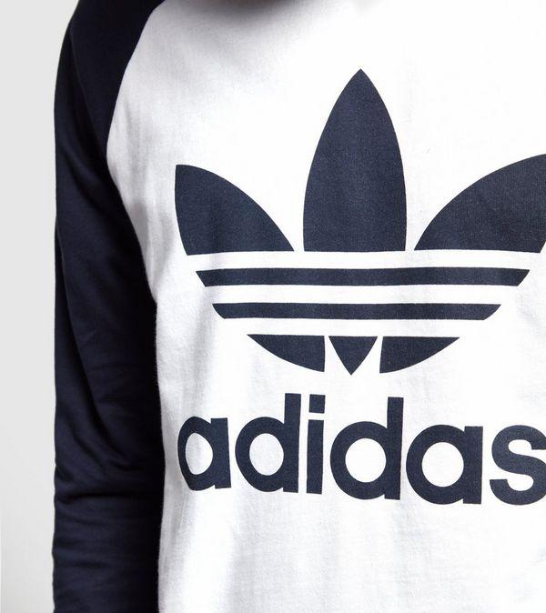 Adidas Originals Long Sleeved Trefoil T Shirt Size