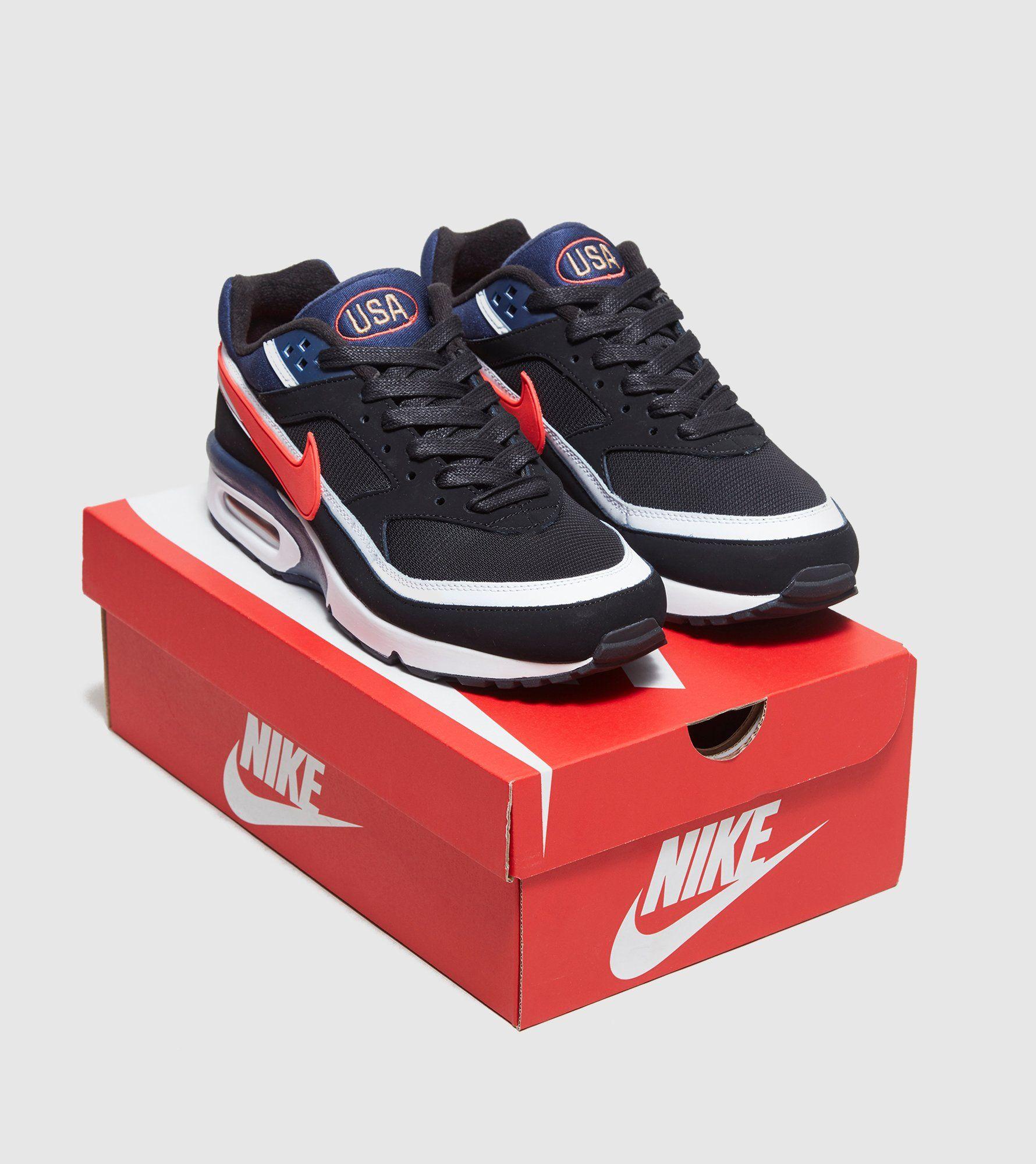 Men's Nike Air Max BW Premium Running Shoes Dark GreyRed