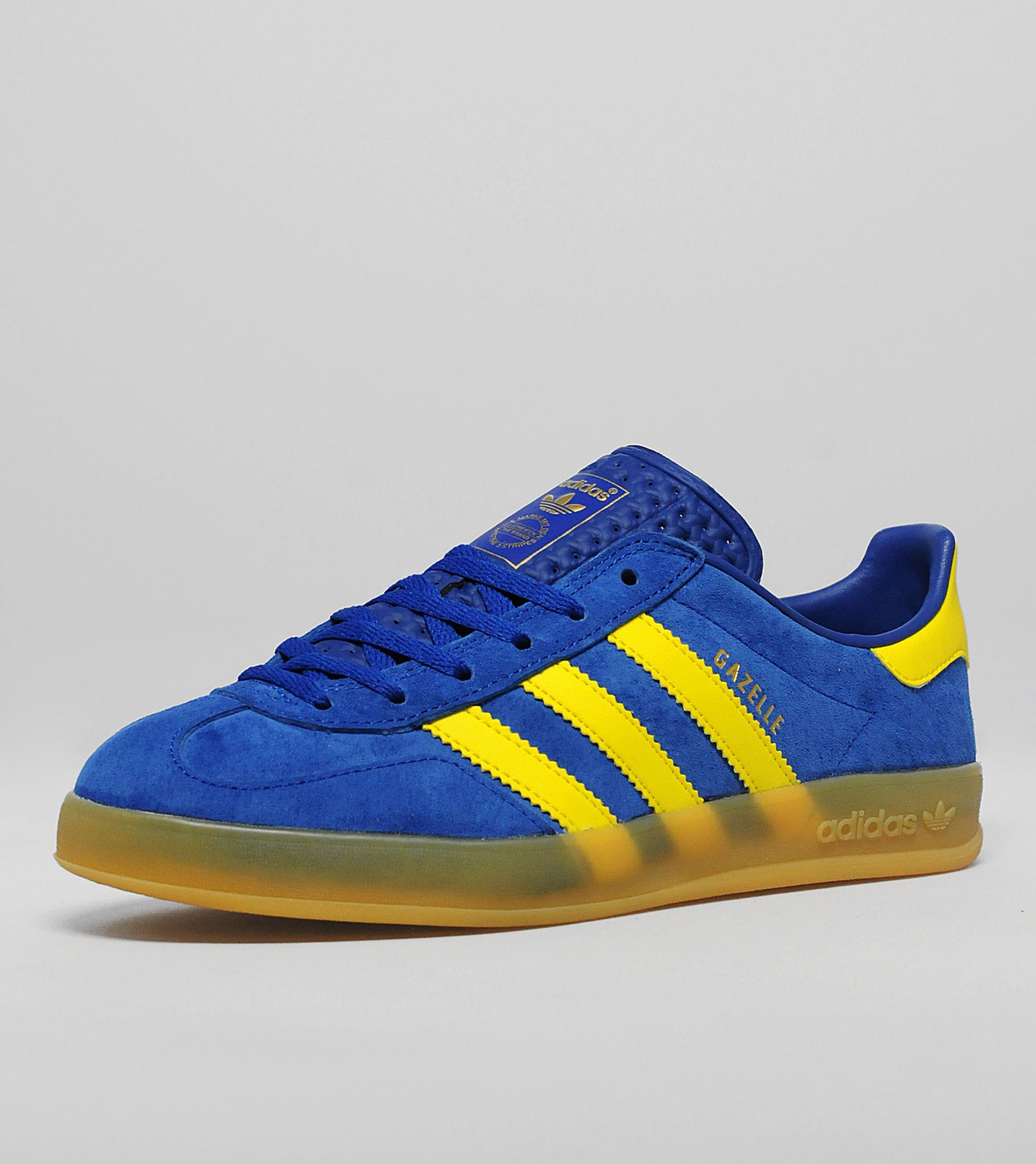 Adidas Gazelle Indoor Blue And Yellow