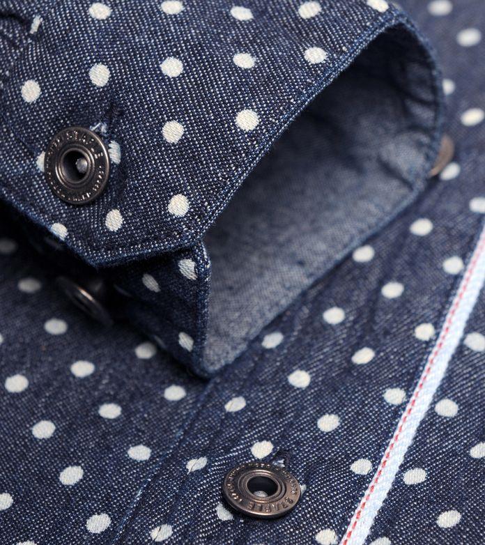 Staple Design Polka Dot Denim Shirt