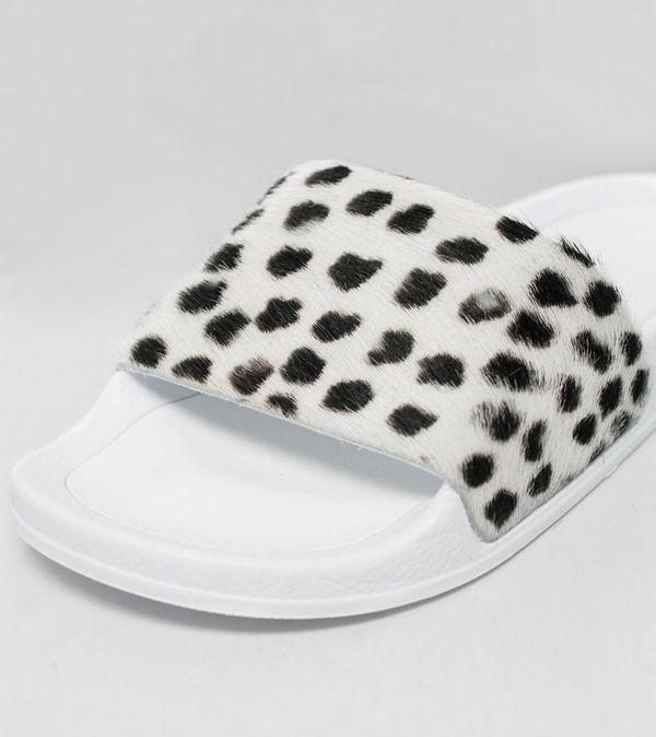 4431ce9a3268 adidas Originals Adilette Premium Leather Pony Hair Women s