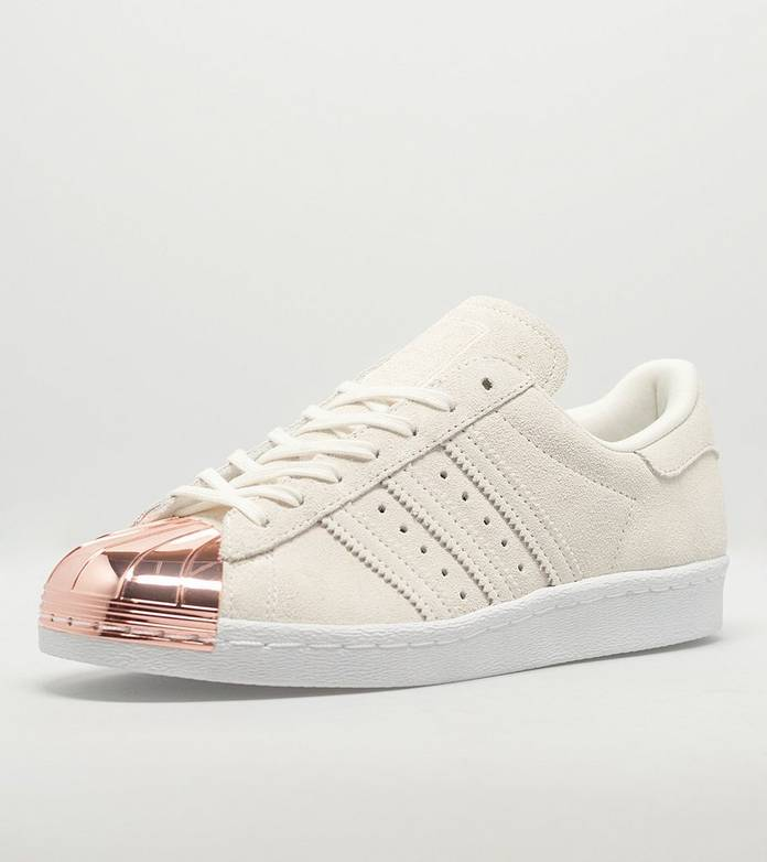 Womens Adidas Superstar 80s Rose Gold Metal Toe