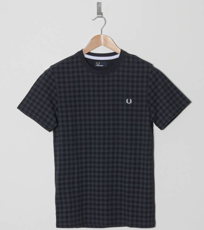 Fred Perry Gingham Print T-Shirt