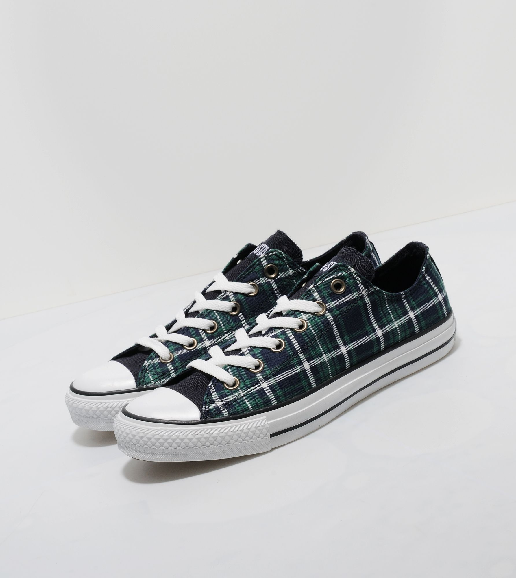 converse all ox plaid size
