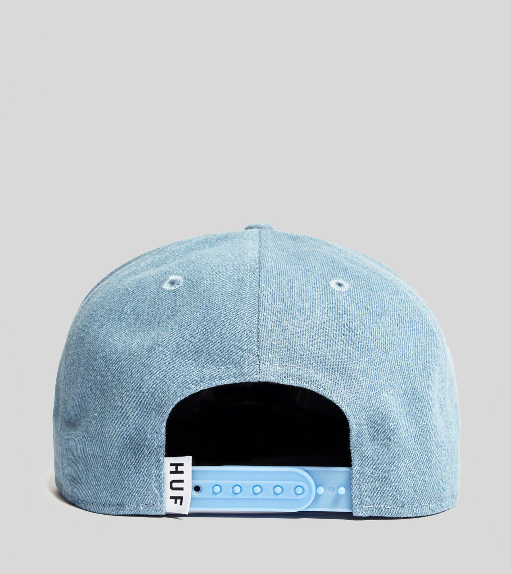 HUF Denim Box Logo Snapback Cap