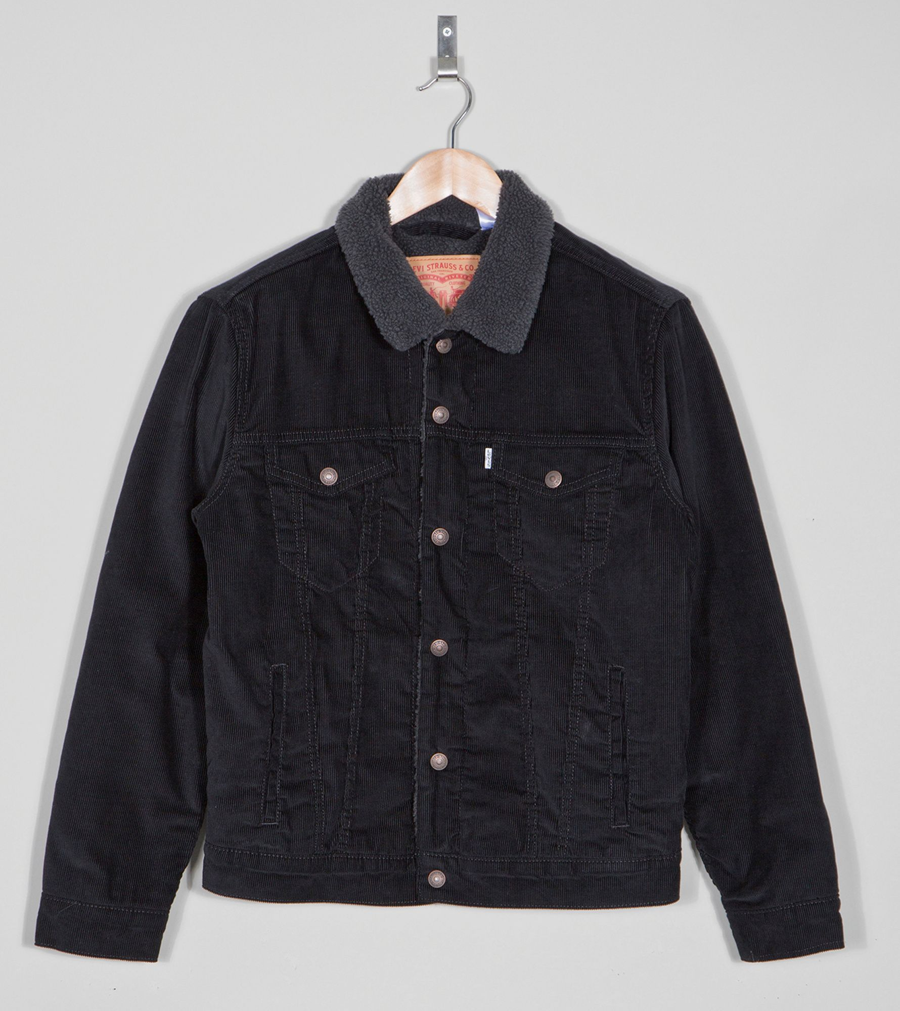 Levis Cord Sherpa Jacket Size