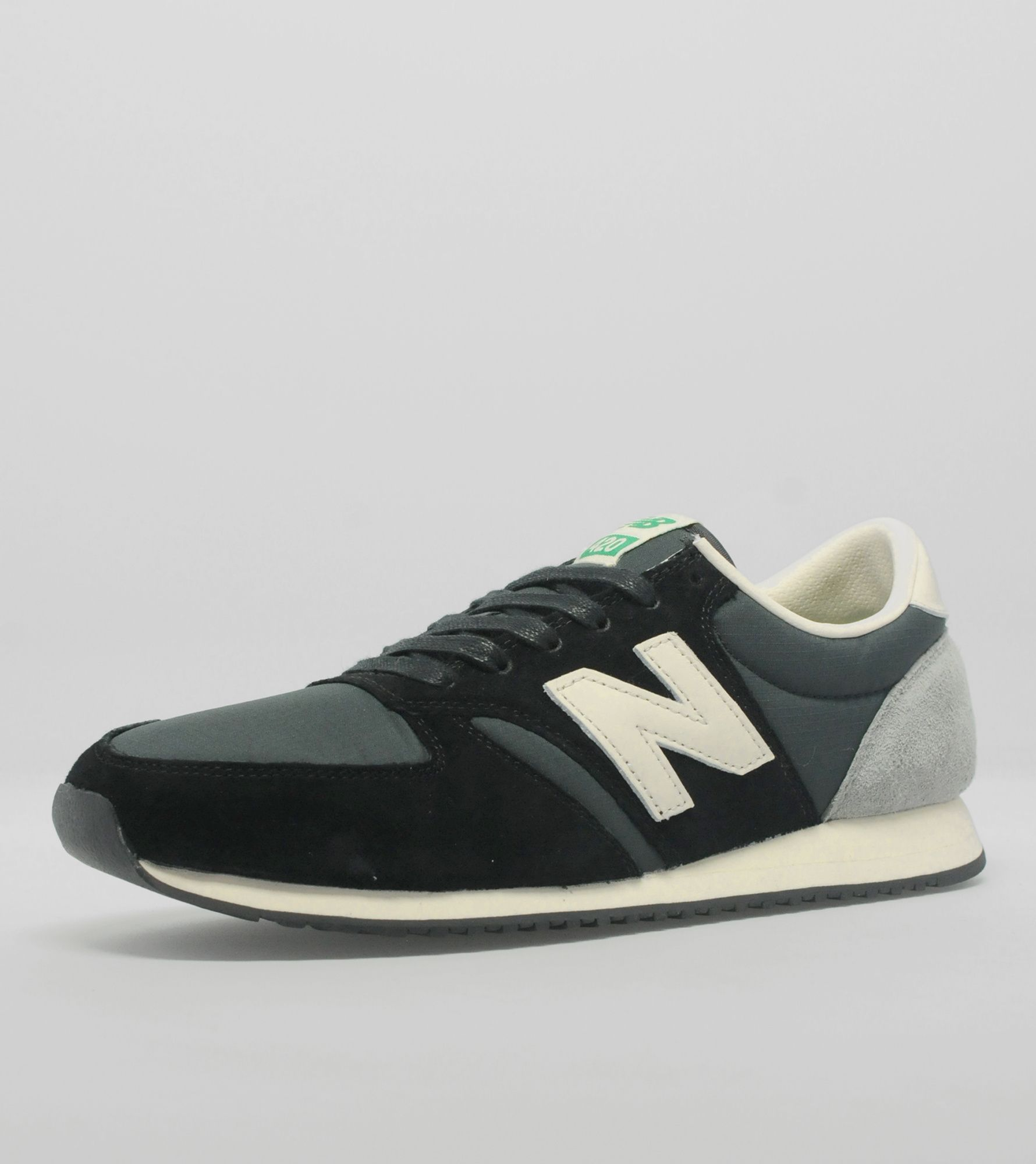 new balance 420 grey suede & nylon trainers
