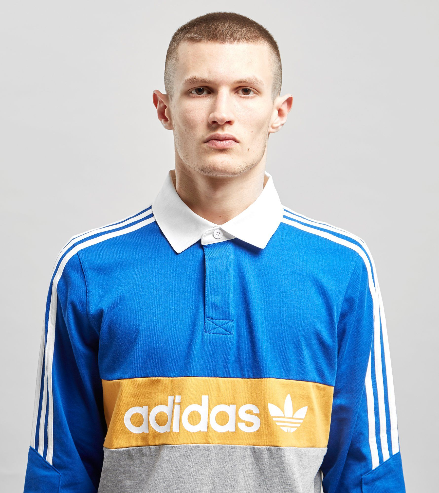 adidas Originals Heritage Long Sleeve Rugby Polo Shirt