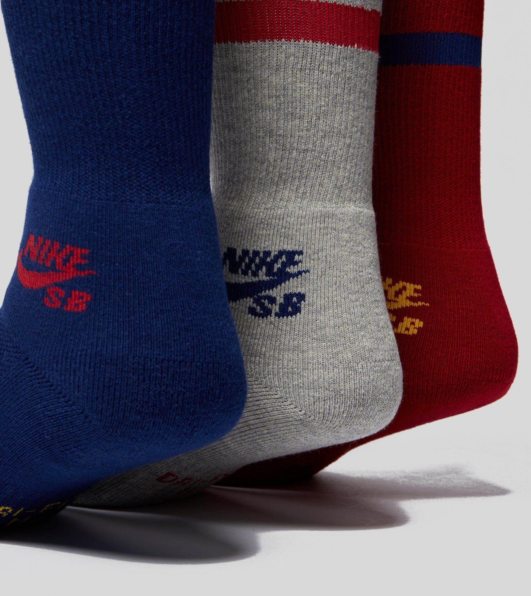 Nike SB 3-Pakke Skateboarding Crew Sokker