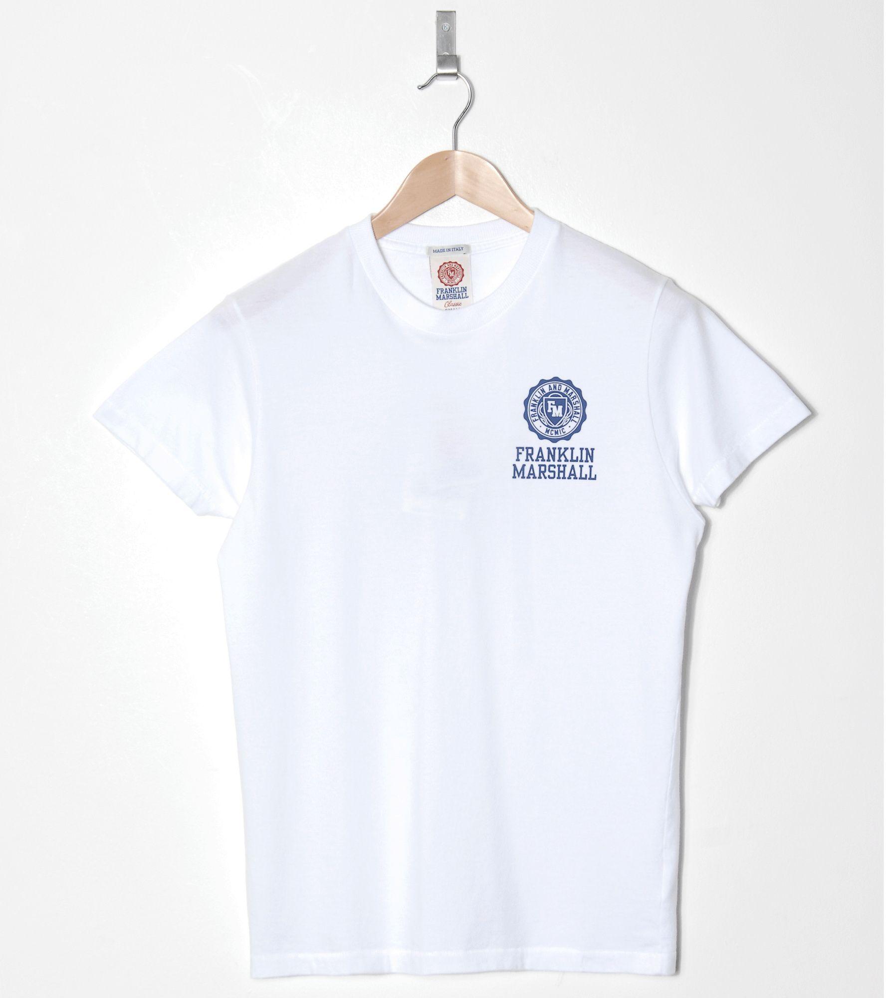 Franklin marshall chest logo t shirt size for T shirt left chest logo size