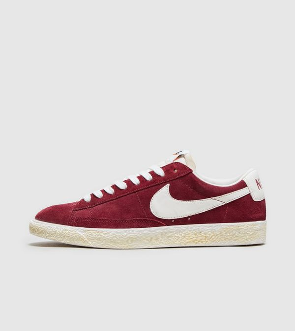 05a79e39d4e real nike blazer low vintage suede red 623a1 7d786