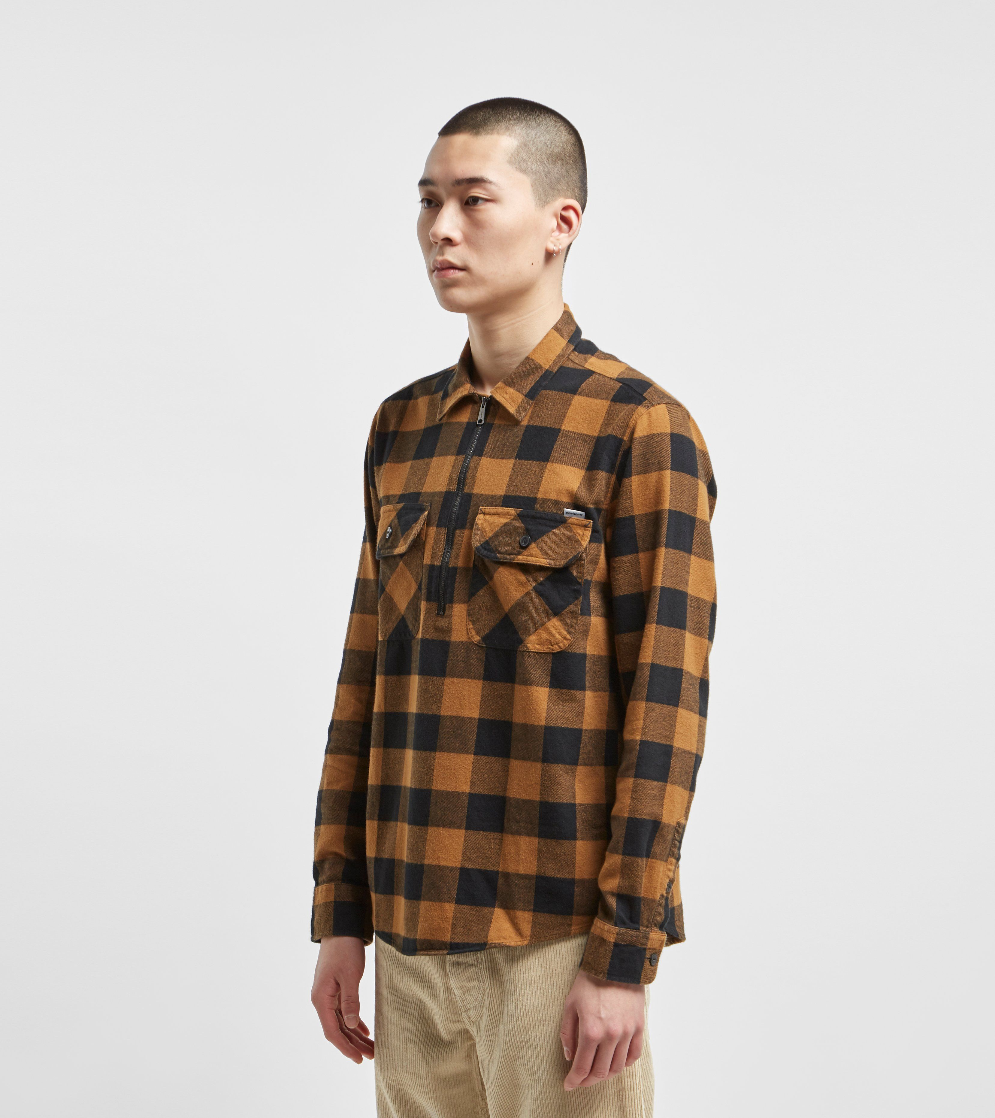 Carhartt WIP Francis Quarter Zip Long Sleeve Shirt