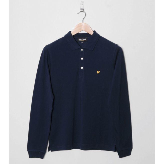 Lyle & Scott Pique Long Sleeved Polo Shirt